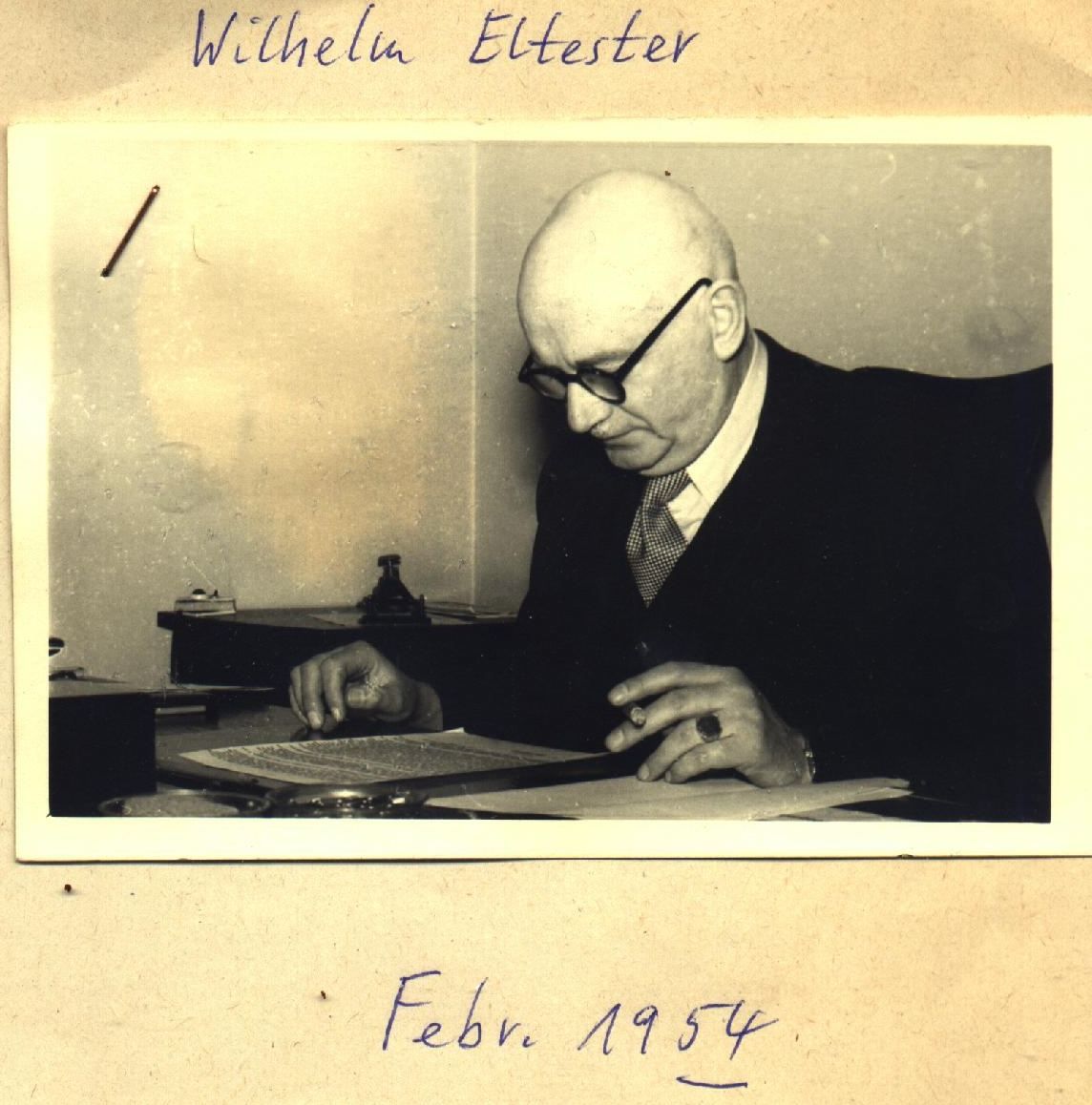 Wilhelm Eltester 1954
